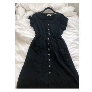 Cinched Waist Buttondown Dress